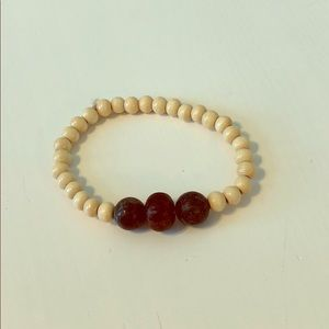 Natural Wood Essential Oil Diffuser Bracelet
